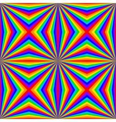 Geometric rainbow seamless pattern vector