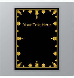 Golden black simplified classic ornate vector