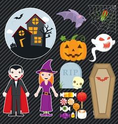 Halloween Set 002 vector image