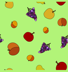 Hand drawn fruit seamless pattern vector
