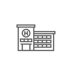 Hospital building line icon vector image
