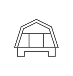 House roof line outline icon vector