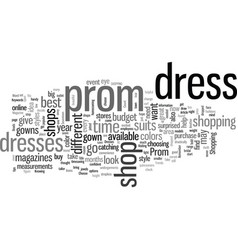 How to choose a prom dress vector