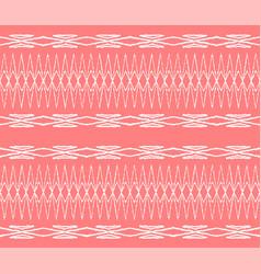 Ikat tribal art print african rug vector