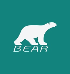 Image of an bear white design vector