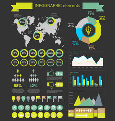 infographic elements template vector image