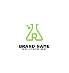 Initial r molecular dna logo design template icon vector