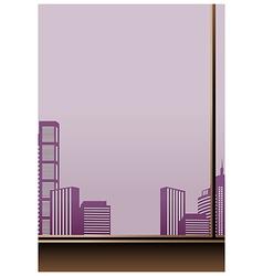 Interior Cityscape View vector image