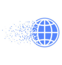 internet fractured pixel icon vector image
