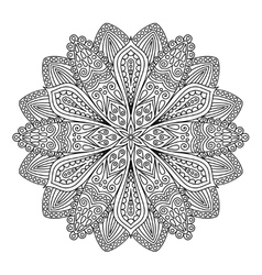 Intricate Flower Coloring Page vector image