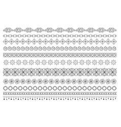islamic arabic muslim patterns border ornament vector image