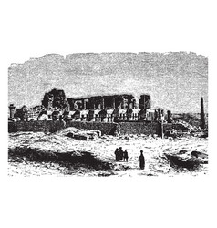 Karnak egypt example vintage engraving vector