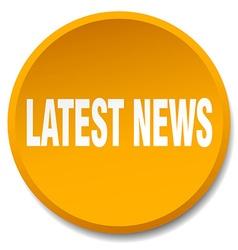 Latest news orange round flat isolated push button vector