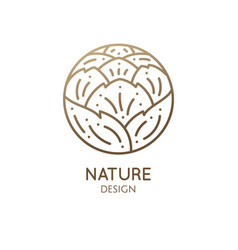 logo rose bud vector image