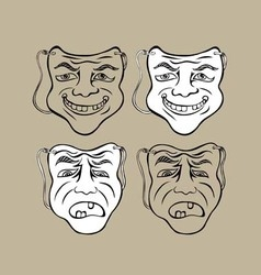 Mask Face vector image