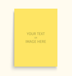 Mockup of a portrait-oriented magazine catalogue vector