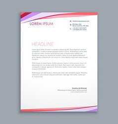 modern colorful letterhead design vector image