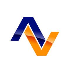 modern initial av symbol logo design vector image