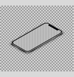 modern realistic isometric smartphone concept vector image