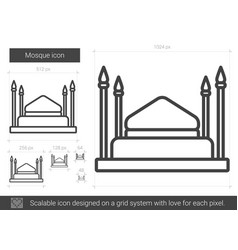 Mosque line icon vector