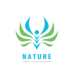 nature people concept design abstract human vector image