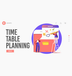 online meeting scheduling landing page template vector image