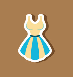 Paper sticker fashion clothes fluffy dress vector
