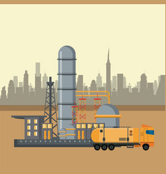 petroleum industry concept vector image