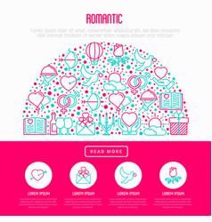 romantic concept in half circle vector image