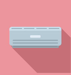 Room air conditioner icon flat style vector