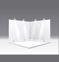 scene show podium for presentations on gray vector image
