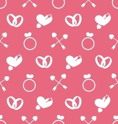 Seamless Wallpaper for Valentines Day or Wedding vector image