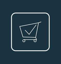 Shopping cart icon line symbol premium quality vector