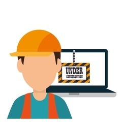 Site under construction icon vector