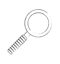 sketch search find mind icon vector image