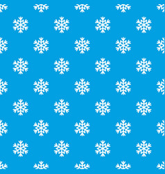 snowflake pattern seamless blue vector image