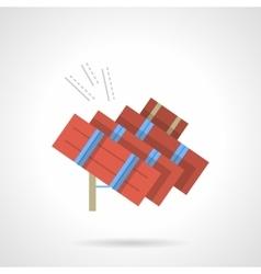 Solar energy flat color design icon vector image