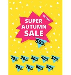 Super autumn sale banner vector
