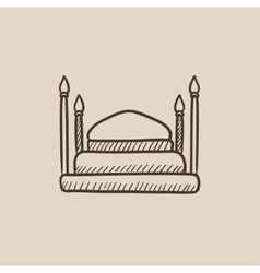 Taj Mahal sketch icon vector image