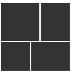 Templates collage four frames photos vector