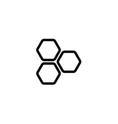 Thin line honeycomb icon vector