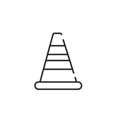 Thin line road barrier icon vector