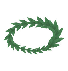 Triumph wreath icon isometric style vector