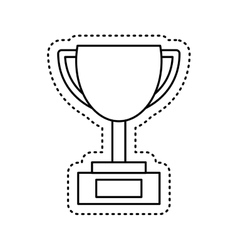 Trophy award isolated icon vector