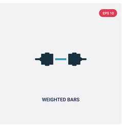 Two color weighted bars icon from sports concept vector
