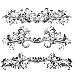 Vintage dividers floral decorative ornaments vector