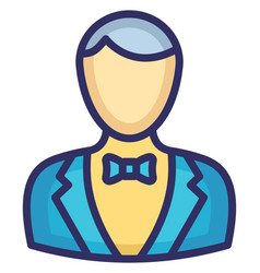 Waiter icon which can easily modify or edi vector