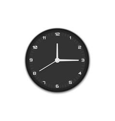 wall office clock vector image