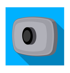 Webcam icon in flat style isolated on white vector