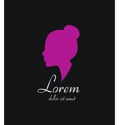 Woman silhouette logo icon Beauty salon vector image
